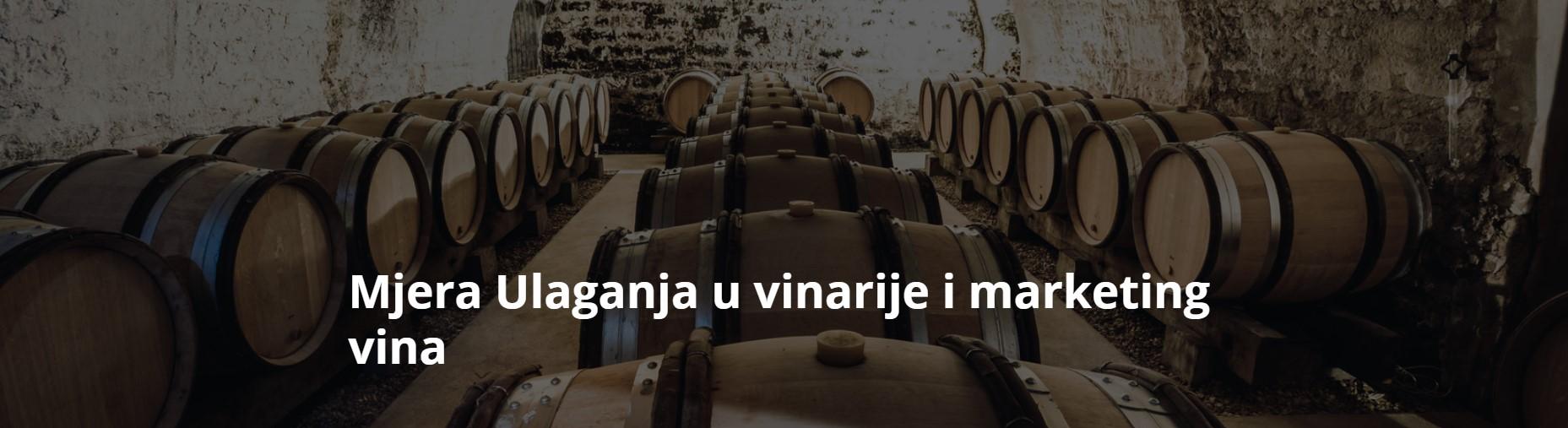 Mjera ulaganja u vinarije i marketing vina